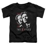 X-Files Mulder and Scully Toddler T-Shirt Black