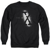 X-Files Spotlight Logo Adult Crewneck Sweatshirt Black