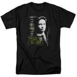 X-Files Mulder Adult 18/1 T-Shirt Black