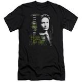 X-Files Mulder Adult 30/1 T-Shirt Black