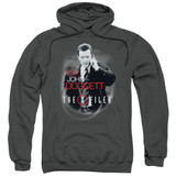 X-Files Doggett Adult Pullover Hoodie Sweatshirt Charcoal