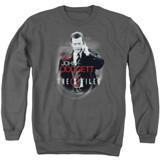 X-Files Doggett Adult Crewneck Sweatshirt Charcoal