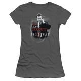 X-Files Doggett Junior Women's T-Shirt Sheer Charcoal