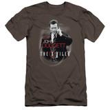 X-Files Doggett Premium Canvas Adult Slim Fit 30/1 T-Shirt Charcoal