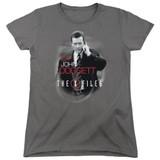 X-Files Doggett Women's T-Shirt Charcoal