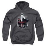 X-Files Doggett Youth Pullover Hoodie Sweatshirt Charcoal