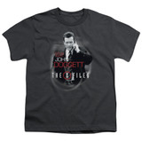 X-Files Doggett Youth 18/1 T-Shirt Charcoal