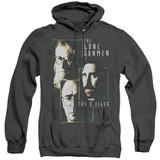 X-Files Lone Gunmen Adult Heather Hoodie Sweatshirt Black