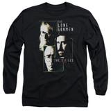 X-Files Lone Gunmen Long Sleeve Adult 18/1 T-Shirt Black