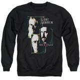 X-Files Lone Gunmen Adult Crewneck Sweatshirt Black
