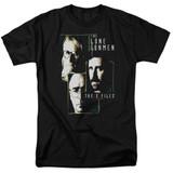 X-Files Lone Gunmen Adult 18/1 T-Shirt Black