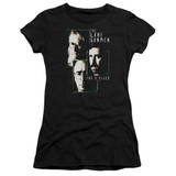 X-Files Lone Gunmen Junior Women's T-Shirt Sheer Black