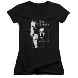 X-Files Lone Gunmen Junior Women's T-Shirt V-Neck Black