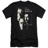X-Files Lone Gunmen Premium Canvas Adult Slim Fit 30/1 T-Shirt Black