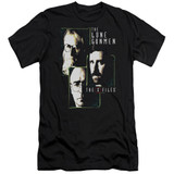 X-Files Lone Gunmen Adult 30/1 T-Shirt Black
