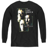 X-Files Lone Gunmen Youth Long Sleeve T-Shirt Black