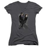 X-Files X Marks The Spot Junior Women's T-Shirt V-Neck Charcoal