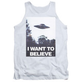 X-Files Believe Poster Adult Tank Top White
