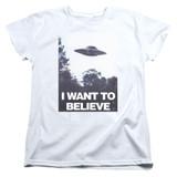 X-Files Believe Poster Women's T-Shirt White