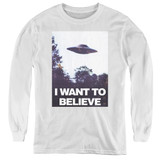 X-Files Believe Poster Youth Long Sleeve T-Shirt White