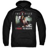 X-Files Believe At The Office Adult Pullover Hoodie Sweatshirt Black
