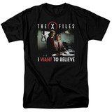 X-Files Believe At The Office Adult 18/1 T-Shirt Black