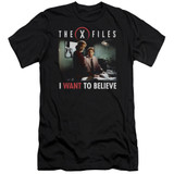 X-Files Believe At The Office Adult 30/1 T-Shirt Black