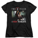 X-Files Believe At The Office Women's T-Shirt Black