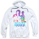 Miami Vice Crockett And Tubbs Adult Pullover Hoodie Sweatshirt White