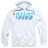 Miami Vice Logo Adult Pullover Hoodie Sweatshirt White