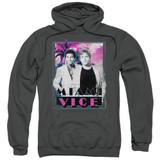 Miami Vice Gotchya Adult Pullover Hoodie Sweatshirt Charcoal