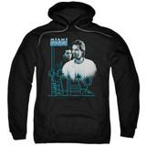 Miami Vice Looking Out Adult Pullover Hoodie Sweatshirt Black