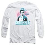 Miami Vice Crockett Long Sleeve Adult 18/1 T-Shirt White