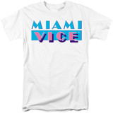 Miami Vice Logo Adult 18/1 T-Shirt White