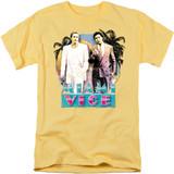 Miami Vice 80S Love Adult 18/1 T-Shirt Banana
