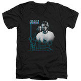 Miami Vice Looking Out Adult V-Neck T-Shirt Black