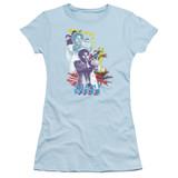 Miami Vice Freeze Junior Women's Sheer T-Shirt Light Blue