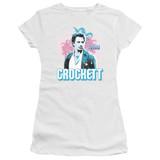 Miami Vice Crockett Junior Women's Sheer T-Shirt White