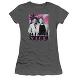 Miami Vice Gotchya Junior Women's Sheer T-Shirt Charcoal