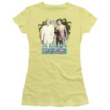 Miami Vice 80S Love Junior Women's Sheer T-Shirt Banana