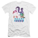 Miami Vice Crockett And Tubbs Premium Canvas Adult Slim Fit 30/1 T-Shirt White