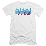 Miami Vice Logo Premium Canvas Adult Slim Fit 30/1 T-Shirt White