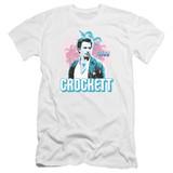 Miami Vice Crockett Premium Canvas Adult Slim Fit 30/1 T-Shirt White