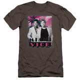 Miami Vice Gotchya Premium Canvas Adult Slim Fit 30/1 T-Shirt Charcoal