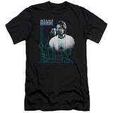 Miami Vice Looking Out Premium Canvas Adult Slim Fit 30/1 T-Shirt Black
