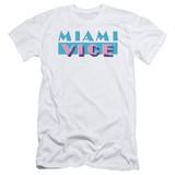 Miami Vice Logo Adult 30/1 T-Shirt White