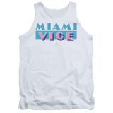 Miami Vice Logo Adult Tank Top White