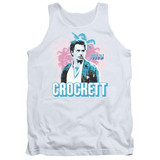 Miami Vice Crockett Adult Tank Top White