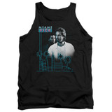 Miami Vice Looking Out Adult Tank Top Black