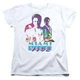 Miami Vice Crockett And Tubbs Women's T-Shirt White